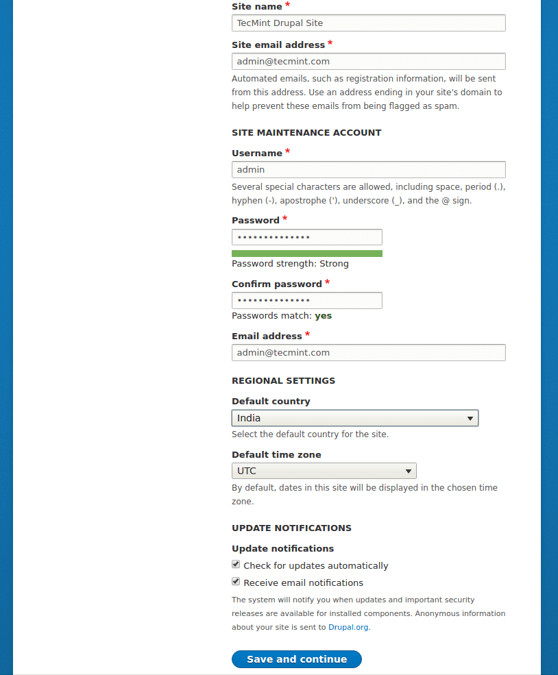 Drupal 站点配置