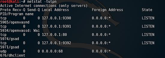 Check OpenVAS Status