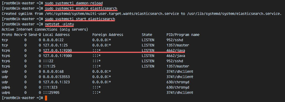 Check elasticsearch running on port 9200