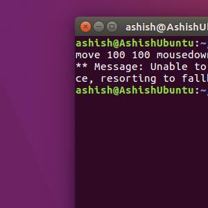 Screenshot output