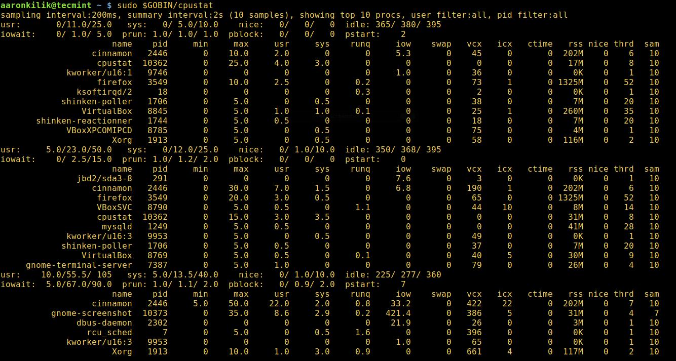 cpustat - 监控 Linux CPU 使用