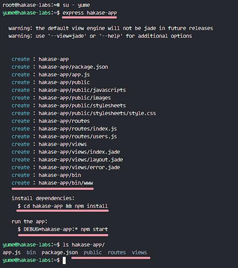 用 express-generator 生成应用框架