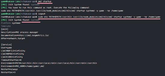 pm2 添加服务到开机自启动