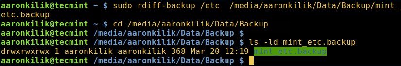 Backup Files to Different Partition