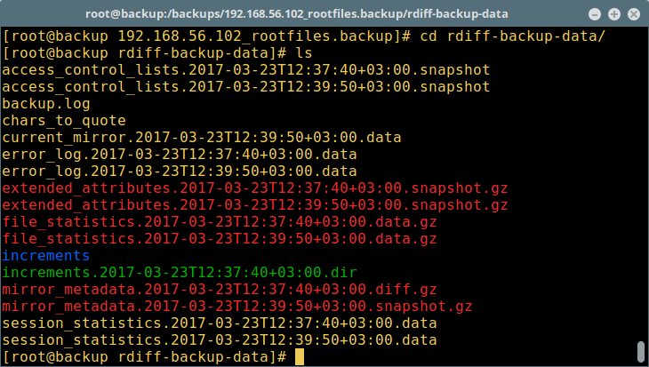rdiff-backup - Backup Process Files