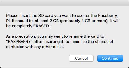 USB card reader prompt
