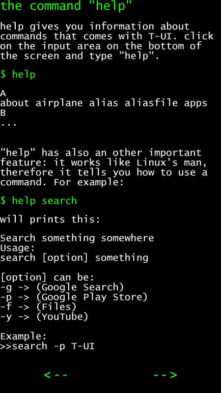 T-UI Commandline Help Guide