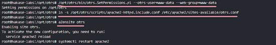 Enable OTRS Apache Virtual Host