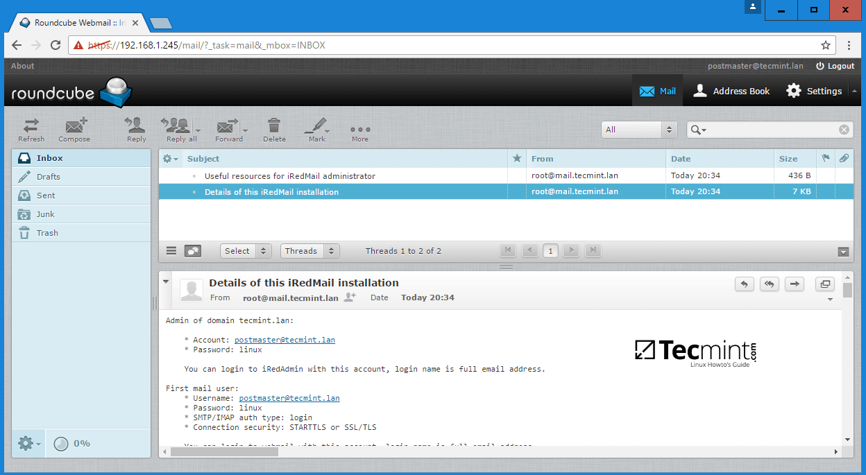 iRedMail Web Mail