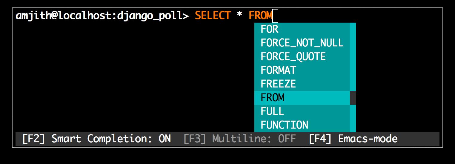 MySQL Auto Completion