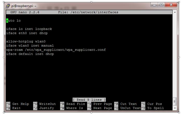 File editor nano