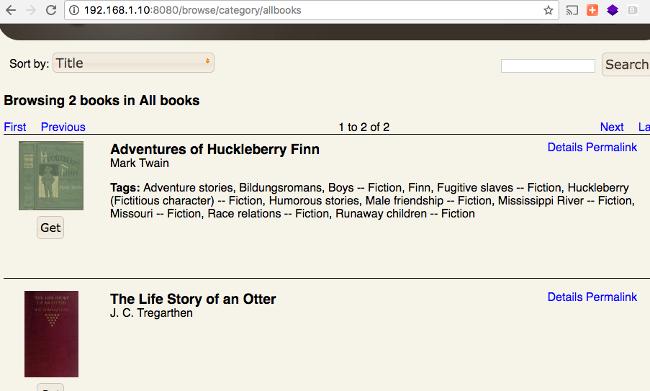 Browsing e-books