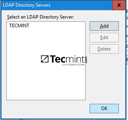 Select LDAP Directory Server