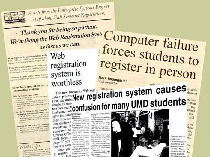 Negative headlines about web registration crashes