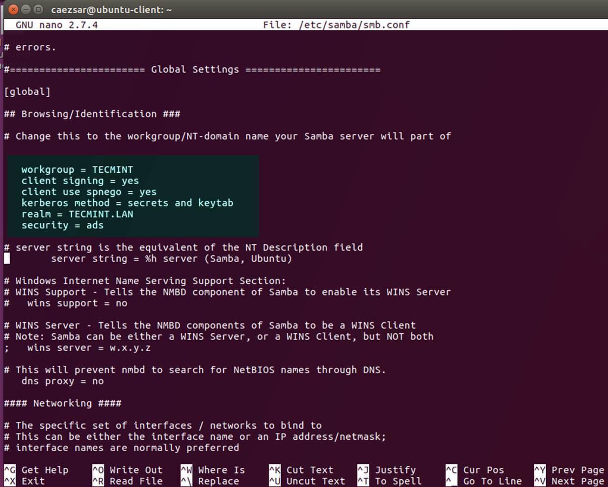 配置 Samba 服务器