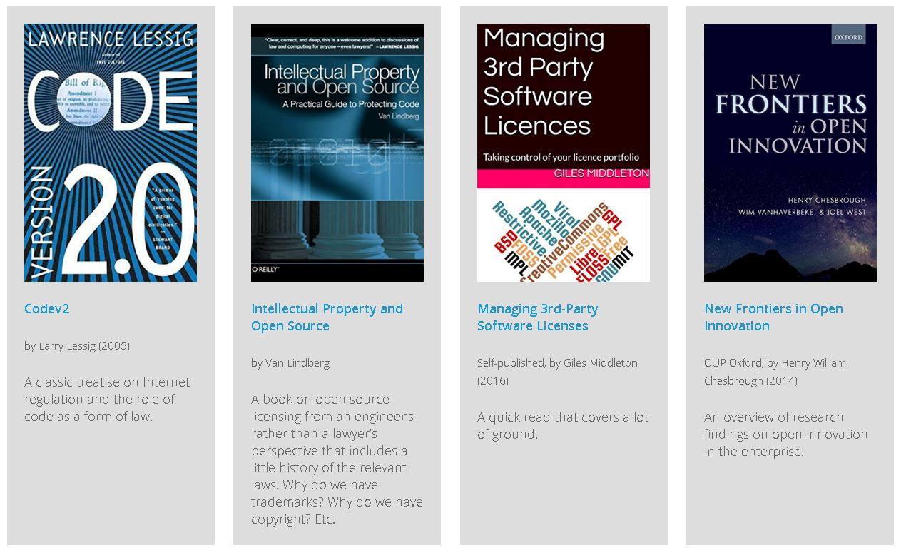 Some Offerings in the 'Open Source Guides Reading List' Enterprise Guide