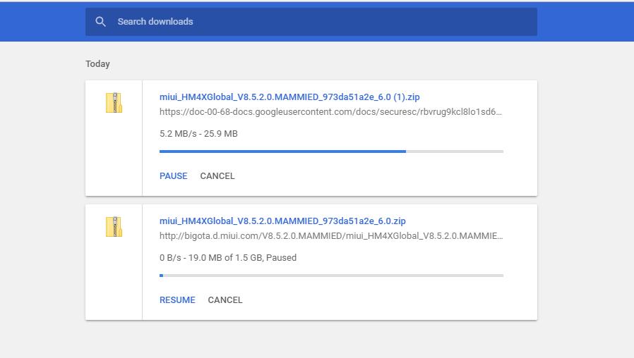 如何从浏览器上下载 MIUI 更新