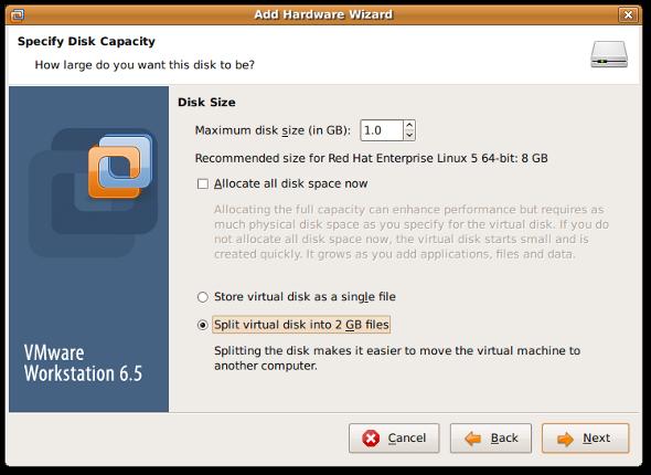 Fig.05:Vmware Virtual Disk