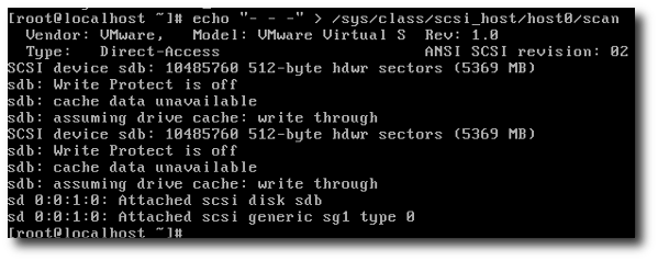 Linux Vmware Rescan New Scsi Disk Without Reboot