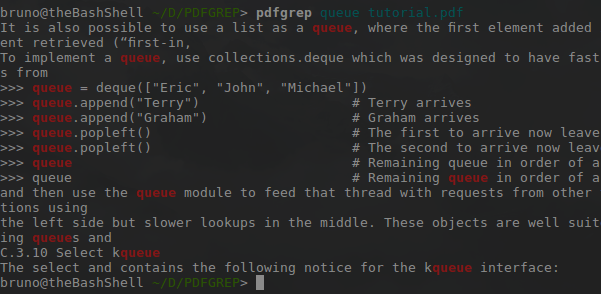 pdfgrep search
