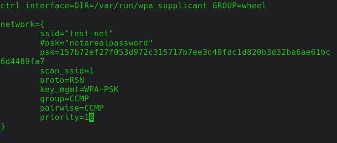 Complete WPA_Supplicant Settings
