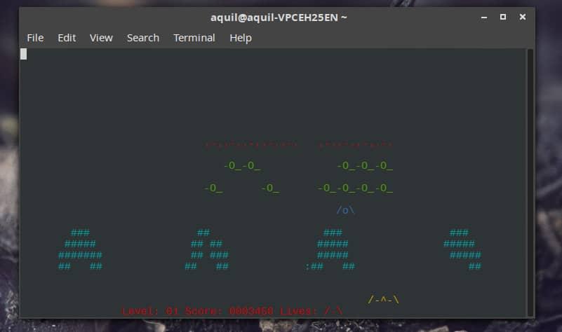 Linux 终端游戏 nInvaders