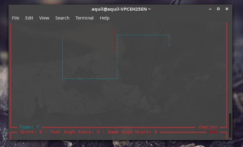 Linux 终端游戏 Tron