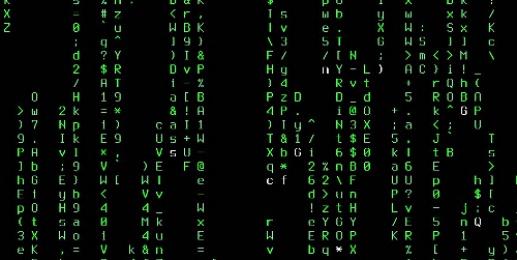 图 2 黑客帝国屏保