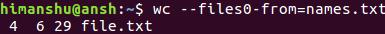 如何从文件读取输入文件名