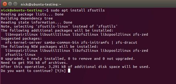 Install ZFS on Ubuntu