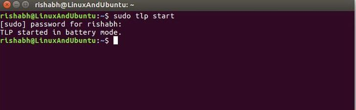 start tlp on linux