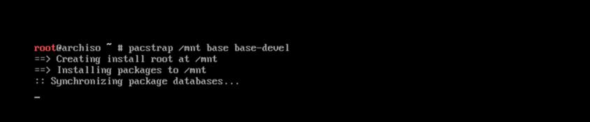 安装Arch Linux 基础系统