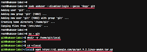 安装 Go 和 Git