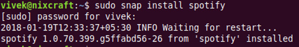 How to install Spotify application on Linux using snap command