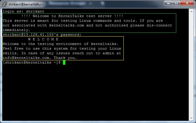 motd in linux