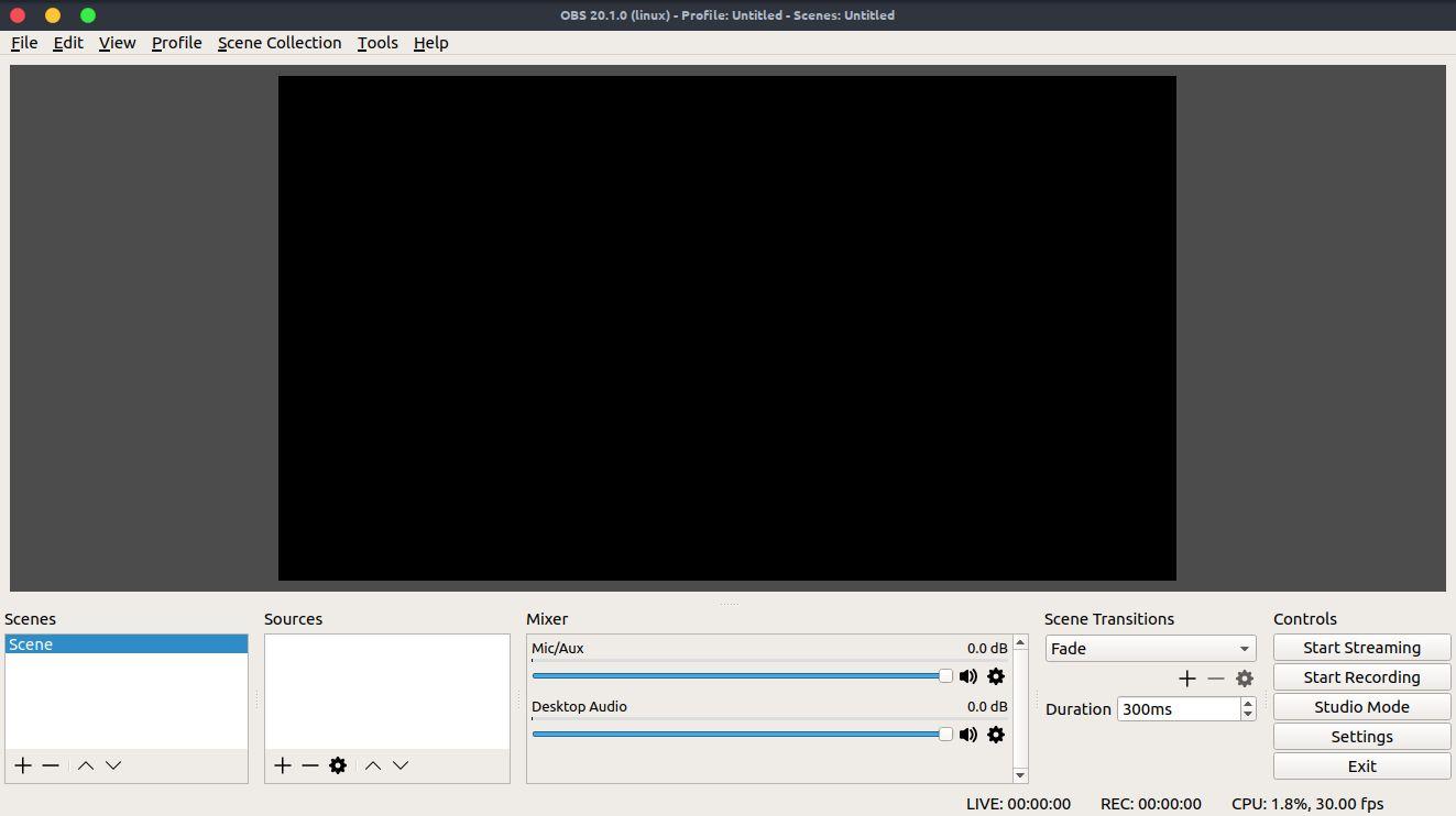 obs Linux 视频截录