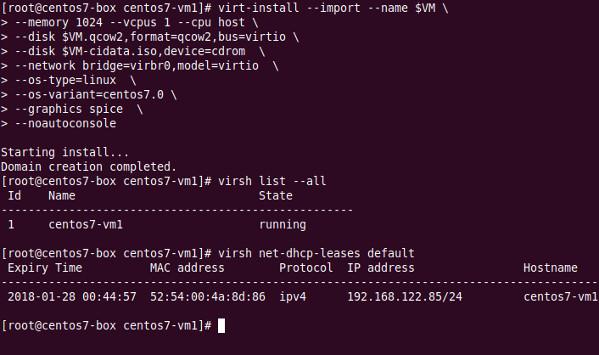 CentOS7-VM1- Created