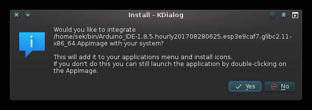 AppImage system integration