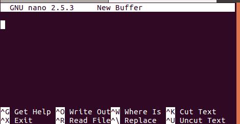 Nano 命令行编辑器