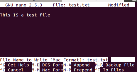 以 DOS 格式保存文件