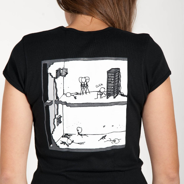Fig.03: Sysadmin XKCD shirt features the original comic on the front and a new illustration on the back.