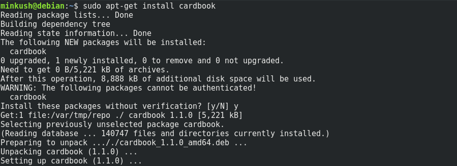 Package installation!