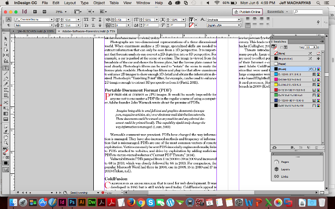Book layout in InDesign