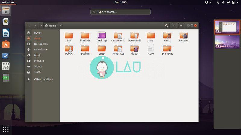 Ubuntu gnome 18.04