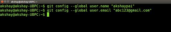 Git config