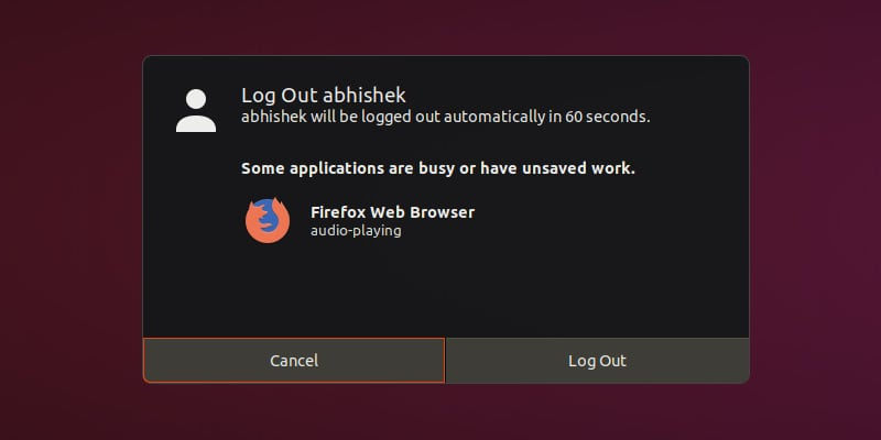 Log Out Ubuntu