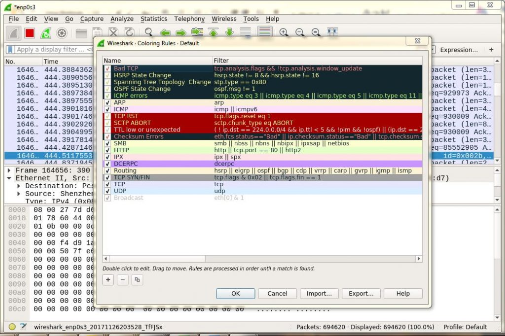 Packet-Colouring-Wireshark
