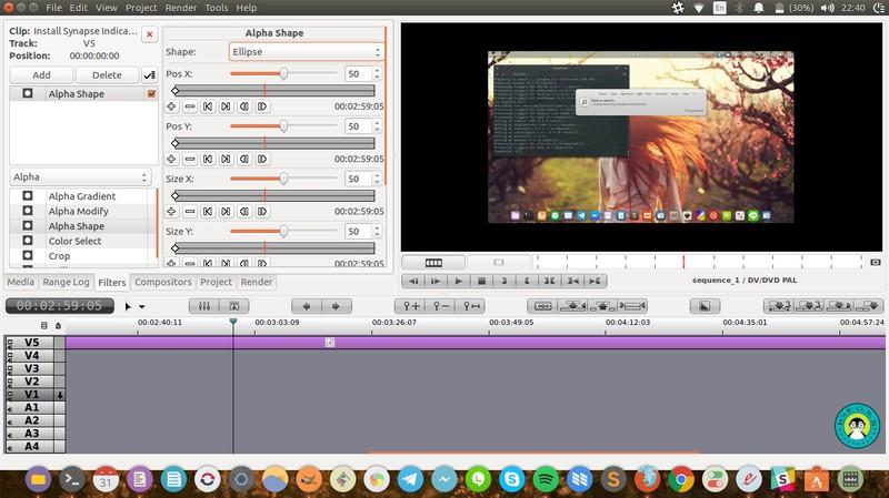Flowblade ubuntu 上的视频编辑器