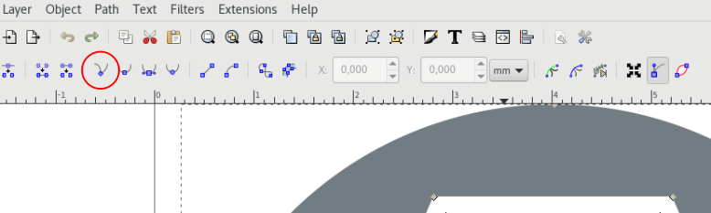 Inkscape - 将节点变成角的工具