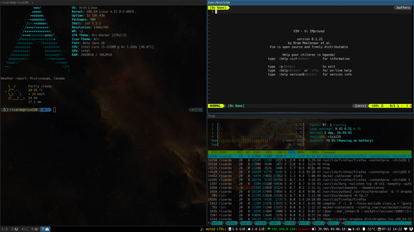 i3 tiled window manager screenshot